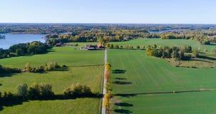 Mooie luchtvideo van Katrineholm, Zweden, Scandinavië stock video