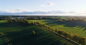 Mooie luchtvideo van Katrineholm, Zweden, Scandinavië op de herfstdag stock footage
