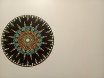 Mooie manda op de muur royalty-vrije stock afbeelding
