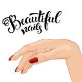 Mooie manicureillustratie Royalty-vrije Stock Afbeelding