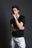 Mooie mannelijke modelspruit in de studio Royalty-vrije Stock Fotografie