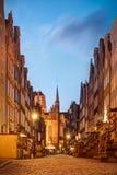 Mooie Mariacka-Straat in de Oude Stad Polen van Gdansk stock foto's