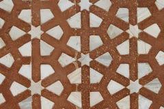 Mooie marmeren gravures. Het Graf van Akbar, India stock afbeelding