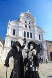 Mooie Maskers in Carnaval in Venetië, Italië Stock Foto's