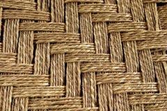 Mooie mat, die van kabel wordt geweven Royalty-vrije Stock Afbeelding