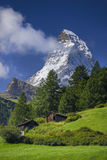 Mooie Matterhorn Zermatt, Zwitserse Hotels Switzerland Royalty-vrije Stock Afbeelding