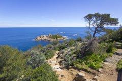 Mooie Mediterrane kust Royalty-vrije Stock Fotografie
