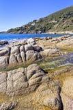 Mooie Mediterrane kust Stock Foto