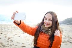 Mooie meisje genomen beelden van zelf haar royalty-vrije stock afbeeldingen