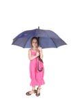 Mooie meisje status Stock Foto's