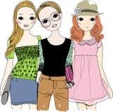 Mooie meisjes stock illustratie