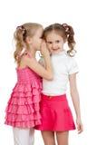 Mooie meisjes die een geheim delen royalty-vrije stock afbeelding