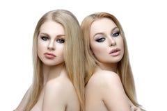 Mooie meisjes met make-up stock fotografie