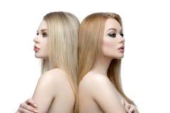 Mooie meisjes met make-up royalty-vrije stock foto's