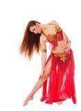 Mooie meisjesdanser van buikdans Royalty-vrije Stock Afbeeldingen