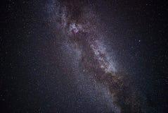 Mooie melkachtige manier op een donkere nachthemel met sterren royalty-vrije stock fotografie