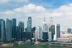 Mooie mening aan de stadsstrandboulevard van Bangkok stock fotografie