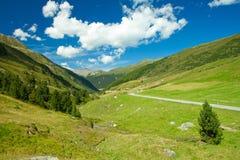 Mooie mening aan Zwitserse Alpen Stock Foto