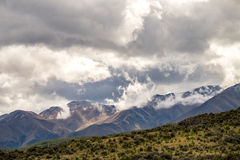 Mooie mening en gletsjer in Onderstel Cook National Park Royalty-vrije Stock Foto's