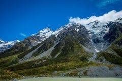 Mooie mening en gletsjer in Onderstel Cook National Park Stock Afbeelding