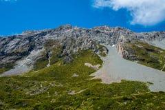 Mooie mening en gletsjer in Onderstel Cook National Park Stock Afbeeldingen