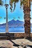 Mooie mening in Isleta del Moro, Cabo DE Gata, Almeria royalty-vrije stock afbeelding