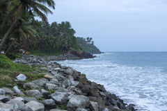 Mooie mening over de oceaan in India Royalty-vrije Stock Afbeeldingen
