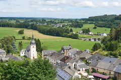 Mooie mening over het dorp van Chassepierre royalty-vrije stock foto