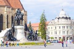 Mooie mening in Union Square, cluj-Napoca Royalty-vrije Stock Fotografie