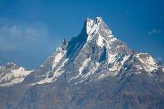 Mooie mening van Annapurna waaier, Himalayan bergen, Nepal Royalty-vrije Stock Foto's
