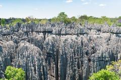 Mooie mening van bergen Madagascar royalty-vrije stock foto's