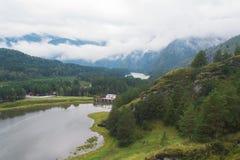 Mooie mening van bergrivier in de zomer Royalty-vrije Stock Afbeelding