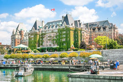 Mooie mening van Binnenhaven van Victoria, BC, Canada Stock Fotografie