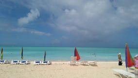 Mooie mening van Caraïbische overzees Stock Foto