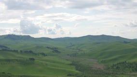 Mooie mening van de aard van de berg Altai stock footage
