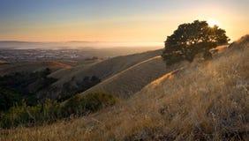 Mooie mening van de Baai van het Oosten en de Baai van San Francisco Stock Foto's