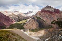 Mooie mening van de bergen van Pamir Royalty-vrije Stock Afbeelding