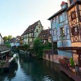 Mooie mening van de historische stad van Colmar Stock Afbeeldingen