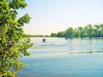 Mooie mening van de rivier royalty-vrije stock foto
