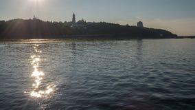Mooie mening van de rivier Dnipro, de Oekraïne van Kiev Royalty-vrije Stock Fotografie