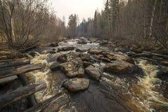 Mooie mening van de rivier in Siberië Royalty-vrije Stock Foto's