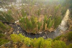 Mooie mening van de rivier van hierboven Royalty-vrije Stock Foto