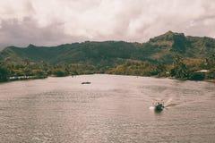 Mooie mening van de spectaculaire kust van Na Pali stock fotografie