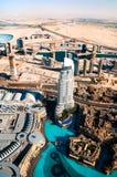 Mooie mening van de stad van Doubai Stock Foto