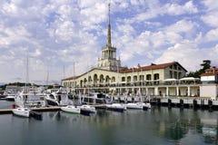 Mooie mening van de zeehaven royalty-vrije stock afbeeldingen