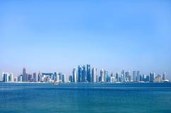 Mooie mening van Doha horizon, Qatar Royalty-vrije Stock Foto