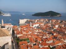 Mooie mening van Dubrovnik royalty-vrije stock fotografie