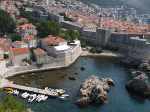 Mooie mening van Dubrovnik stock foto's
