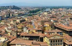 Mooie mening van Florence van Palazzo Vecchio in Florence, Italië Florence, Ital royalty-vrije stock foto