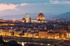 Mooie mening van Florence in zonsondergang royalty-vrije stock afbeeldingen